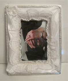Handmade Picture Frame Wedding Design 5 x 7 with by LetsBKreative, $34.99