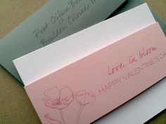 Dual purpose notecard/valentine's card - Talia Events