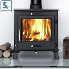 Ecosy+ 16kw Double Sided Multi-Fuel Woodburning Stove Stoves Dual Fronted Burber | eBay
