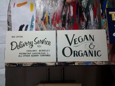 2 show cards by Golden West Sign Arts,