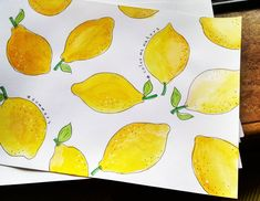 23 отметок «Нравится», 4 комментариев — Newb watercolors! (@colormewaters) в Instagram: «A few limes in spirit of the summers, thanks to @ohn_mar_win ! My sister thought they were papayas…»