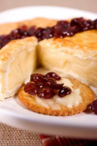 Baked Brie with raspberry preserves -- yum! From Not The Killing Type ...