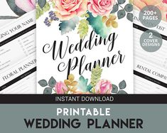 Stay on budget and get organized with this pretty and functional printable wedding planner.  #ad  #budget  #planner