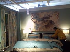 another bedroom.  love the painting