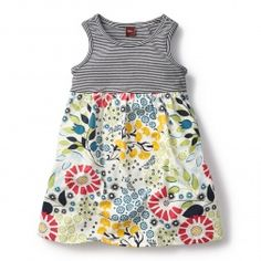 Seaside Garden Tank Dress for Girls | Tea Collection