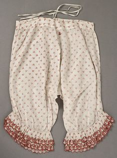 Pantalets. Date: mid-19th century Culture: American or European Medium: cotton