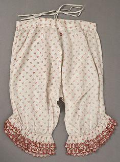Pantalets. Date: mid-19th century Culture: American or European Medium: cotton