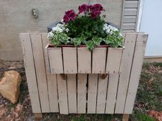 Pallet air conditioner cover-up with flower box
