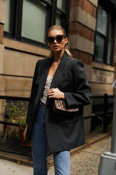 Elsa Hosk Ootd Fashion, Fashion Models, Fashion Outfits, Womens Fashion, Elsa Hosk, Street Look, Street Wear, Street Chic, Model Street Style