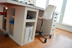 Really great option for an office space using Ikea products, reviewed by Pioneer Woman's homeschooling contributor.