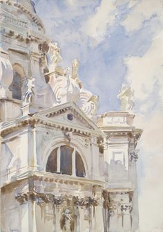 """kecobe:  """" The Salute, Venice  John Singer Sargent (American; 1856–1925)  ca. 1904–7  Watercolor, with graphite underdrawing  Yale University Art Gallery, New Haven, Connecticut  """""""