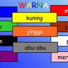 5 page SMARTBOARD file ~ learning colours/colors in bahasa Indonesia (Indonesian).    First 2 pages act as a chart and interactive chart for 11 basic...