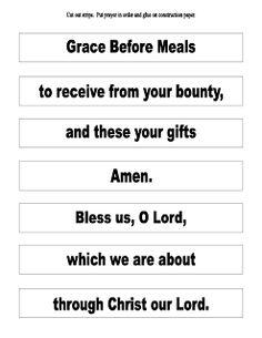 Grace Before Meals Prayer Activities