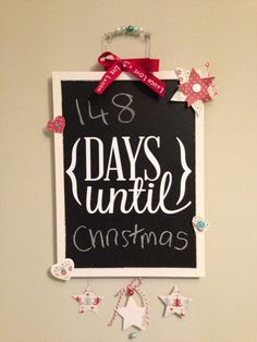 Days Until Christmas Countdown Blackboard
