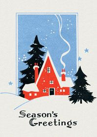 vintage/art deco Christmas card
