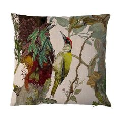 indie woodpecker cushion timorous beasties pillow available at adorn.house insert included #interiordesign #design #homedecor #decorativepillow #timorousbeasties #aesthetics