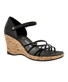 1a3cc8357dfb8 Black Riviera Wedge Strap Sandal - Women