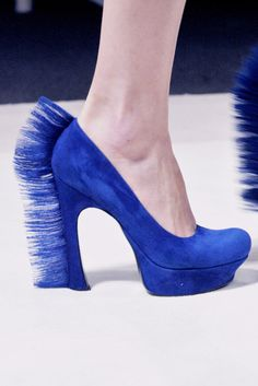Discover this look wearing Blue Suede YSL Heels - YSL blue mohawk shoe by LyriC_reNee styled for Chic, Cocktail in the Spring Stilettos, Ysl Heels, Shoes Heels, Cl Shoes, High Heels, Flats, Neon Shoes, Blue Suede Shoes, Suede Pumps