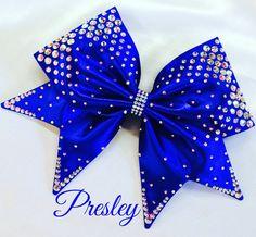 Presley Hand Sewn Fabric Cheer Bow by BlingItOnDesignsCA on Etsy