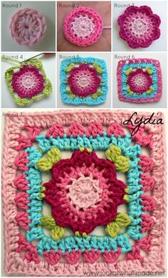 """Dedri's Rose Garden Square is a modification of the Lydia Square used to """"grow"""" Sophie's Universe into a rectangle. Design credit goes to Penny Davis."""