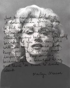 Explore famous, rare and inspirational Marilyn Monroe quotes. Here are the 10 greatest Marilyn Monroe quotations on acting, struggles, love and life. Quotes To Live By, Me Quotes, Faith Quotes, Marilyn Monroe Quotes, Norma Jeane, Lectures, Smile Because, My Idol, Favorite Quotes