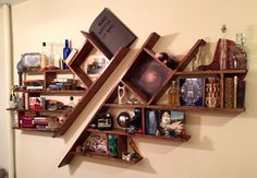 Handmade. Pinewood, stain, and varnish. Cost less than $100 for supplies/wood. Wine Rack, Storage, Wood, Projects, Handmade, Furniture, Home Decor, Purse Storage, Log Projects