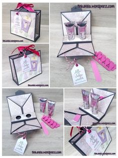 Stempeleinmaleins: Beauty Case Hobbies And Crafts, Crafts To Make, Crafts For Kids, Diy Beauty Case, Fancy Fold Cards, Craft Box, Stamping Up, Inspirational Gifts, Craft Tutorials