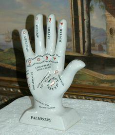 $35, Porcelain Astrology Fortune Telling Palm Reading Palmistry Hand | eBay
