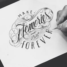 Today I'm sharing 29 typography & lettering designs by the talented Raul Alejandro. His Hand lettering is unique and detailed to finest line which requires a Tattoo Memory, 1 Tattoo, Typography Sketch, Typography Logo, Script Typeface, Types Of Lettering, Brush Lettering, Creative Lettering, Lettering Design