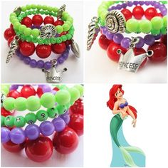 'Ariel' bracelet for your little girl! As pretty as princess Ariel! #kitzforkids
