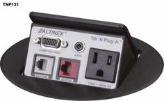 Altinex Tilt N Plug Jr. Tabletop Interconnect Box, Desktop outlet, Computer audio video
