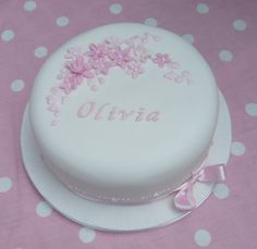 Personalized Christening Cake