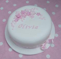 Personalized Christening Cake