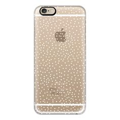 iPhone 6 Plus/6/5/5s/5c Case - WHITE DOTS transparent (52 AUD) ❤ liked on Polyvore featuring accessories, tech accessories, phone cases, iphone case, slim iphone case, iphone cover case, apple iphone cases and polka dot iphone case