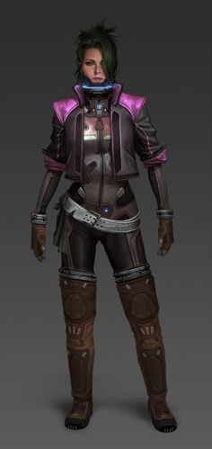 "scifiarchitect:  "" Myriad: Character Design by John Grello  """