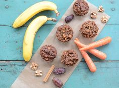 Paleo Carrot Banana Muffins are made with a low-carb almond flour base, purely fruit sweetened, and studded with carrots and walnuts.