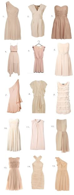 work.to.shop.: blush bridesmaids dresses