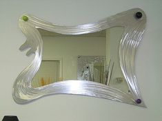 Abstract Mirror in Contemporary design by artist Tony Viscardi  www.ViscardiDesigns.com