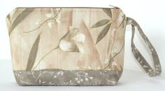 Wristlet  Cosmetic Pouch  Small Purse   by RedNeedleQuilts on Etsy