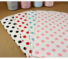 Pink Polka Dot Bitty Bags (10 Pack)