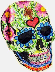 day of the dead love Halloween Town, Halloween 2013, Halloween Ideas, Skull Design, Mexican Folk Art, Skull And Bones, Day Of The Dead, Skull Art, Diy Art