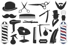 Barbershop tool collection, set of barbershop instruments. - 4500 x 4500 px) . Barber Tattoo, Barber Logo, Barber Shop, Barber Clippers, Minimalist Icons, Best Barber, Hair Scissors, Coffee Poster, Art Friend