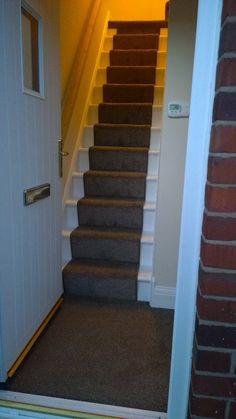 Very Steep Carpeted Stairs