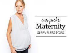 {Project Nursery's Picks} Sleeveless Maternity Tops - #maternity #style