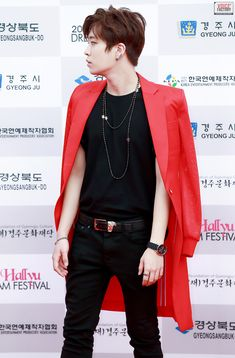 This outfit on him...  *^* <3   GOT7 Youngjae @ Hallyu Dream Concert 150920