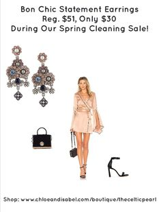 Today's Featured Item: Bon Chic Statement Earrings Reg. $51, Only $30 During Our Spring Cleaning Sale! Shop:https://www.chloeandisabel.com/boutique/thecelticpearl/products/E491MPAR/bon-chic-statement-earrings  #Daily #Featured #Product #love #Spring #Cleaning #SpringCleaning #Sale #Flowers #Earrings #Swarovski #lavender #crystal #crystals #amethyst #vintage #rose #pearl #jewelry #fashion #accessories #style #shopping #shop #trendy #trending #thecelticpearl #chloeandisabel