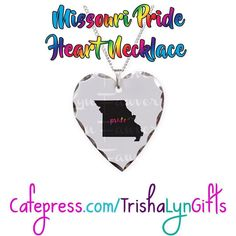 From my State Pride Collection: this Missouri Pride Aluminum Heart Necklace is available now in my Cafepress store! This same design is available on clothing drink ware home goods jewelry and more! http://ift.tt/2dM8V4V  #printondemand #statepride #pride #lgbtqpride #gaypride #advocate #proudadvocate #maps #rainbow #shopsmall #necklace #jewelry #pridemissouri #missouri #missouripride #pridegifts #pridedesign #pridejewelry #LGBTQI #LGBTQ #LGBT #buzzfeedlgbt #queerpride