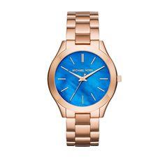 cool Michael Kors Armbanduhr - Slim Runway Ladies Watch Pearlescent Blue/Rosegold - in blau, rosa - Armbanduhr für Damen http://portal-deluxe.com/produkt/michael-kors-armbanduhr-slim-runway-ladies-watch-pearlescent-bluerosegold-in-blau-rosa-armbanduhr-fuer-damen/  199.00