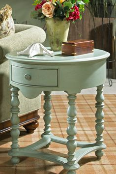I think I want to paint my end tables this color.I want this as a bedside table