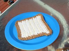 Crochet pattern for Bread, she also has the rest of the sandwich, cheese, lettuce etc. Free!